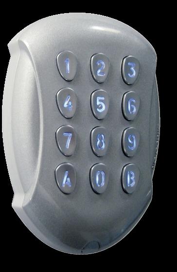 Tastiera Radio Antivandalo Digicode® a 2 Canali GALEOR Controllo Accessi, gestione varchi con codici programmati, senza fili semplice installazione