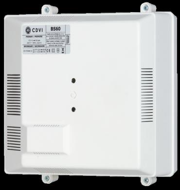 ALIMENTATORE 12V con Batteria BS60 12Vdc/1,5A per controllo accessi con serrature antipanico per porte antincendio.