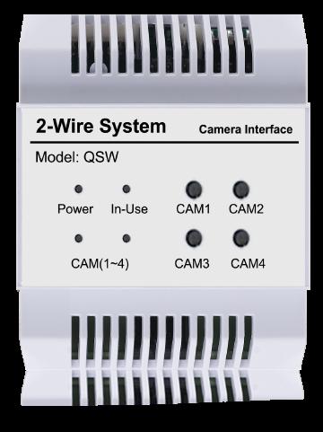 Videocitofonia TVCC Modulo Splitter Quad & CCTV CDV-QSW Controllo Accessi