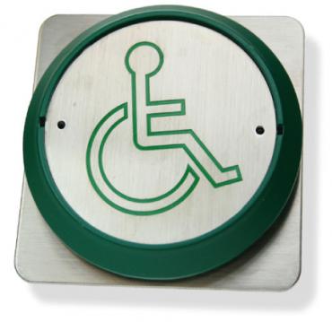 Pulsanti in Acciaio Inox Handicap Antivandalo RTE85DL-x controllo accessi