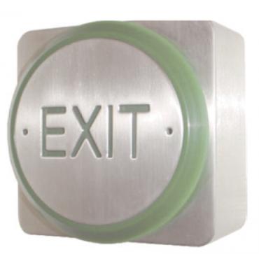Pulsanti Exit in Acciaio Inox Antivandalo RTE85E-S per controllo accessi e antitrusione