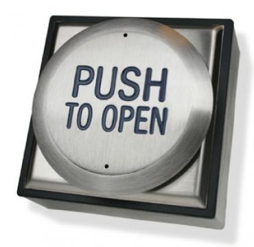 Pulsanti Open in Acciaio Inox Antivandalo RTEPTO per controllo accessi e antintrusione. Applicazioni da interno ed esterno