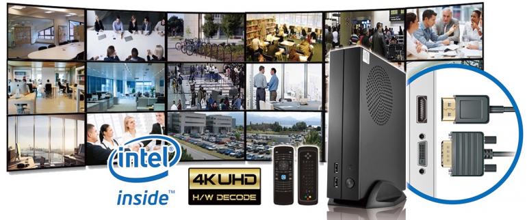 Digiever Video Wall gestione monitors via rete
