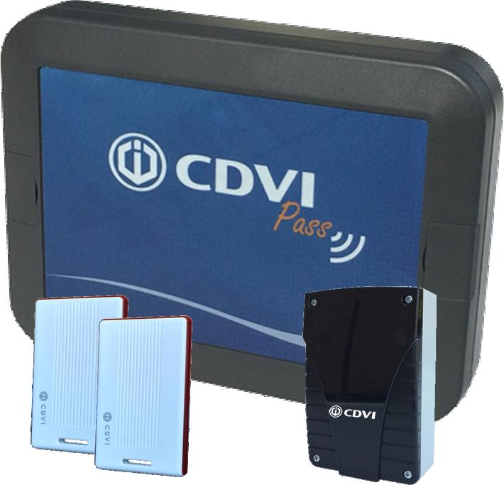 KIT AN02CP CDVI Pass antenna attiva per varchi pedonali regolabile da 0,5 a 6 Mt